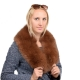 Limited Edition - Brown Fox Fur Collar Stole Wrap