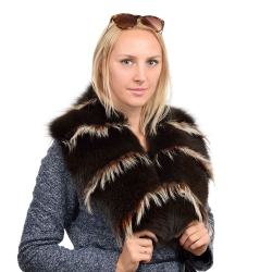 Limited Edition - Dark Brown Fur Collar Stole Wrap