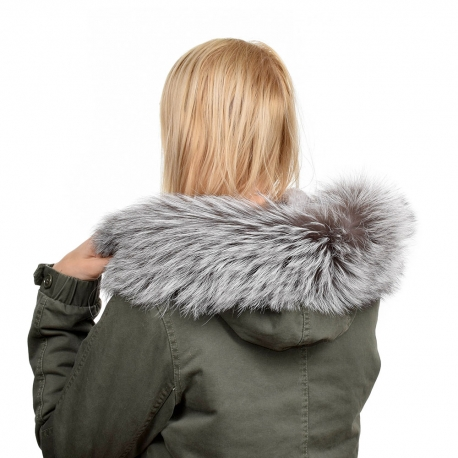 Silver Fox Fur Hood Trim Fur Collar Fur For Hood