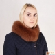 Limited Edition - Brown Fox Fur Stand-Up Collar Wrap