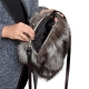 Silver Fox Fur Purse / Grey Fur Shoulder Bag