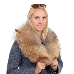 Genuine Raccoon Fur Collar Wrap Shawl Stole