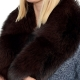 Limited Edition - Dark Brown Fox Fur Collar Wrap Shawl