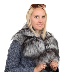 Limited Edition - Genuine Silver Fox Fur Collar