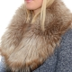 Limited Edition - Dyed Beige Silver Fox Fur Collar Stole