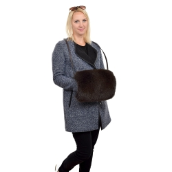 Limited Edition - Brown Fox Fur Muff Hand Warmer