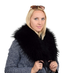 Limited Edition - Black Raccoon Fur Collar