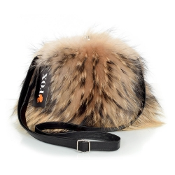 Raccoon Fox Fur Purse / Raccoon Fur Shoulder Bag