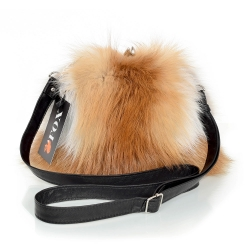 Red Fox Fur Purse / Red Fox Fur Shoulder Bag