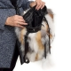 Fox Fur Bucket Bag / Fox Fur Shoulder Bag