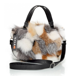 Genuine Fox Fur Handbag / Fox Fur Purse
