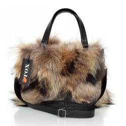 Genuine Raccoon Fur Handbag / Raccoon Fur Purse