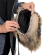 Raccoon Fur Purse / Raccoon Fur Shoulder Bag