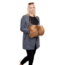 Genuine Red Fox Fur Muff Hand Warmer