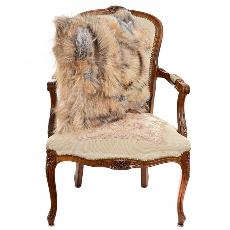 Genuine Fox Fur Pillow / Fox Fur Cushion 50x50cm