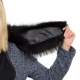 Limited Edition - Black-Brown Raccoon Fur Collar