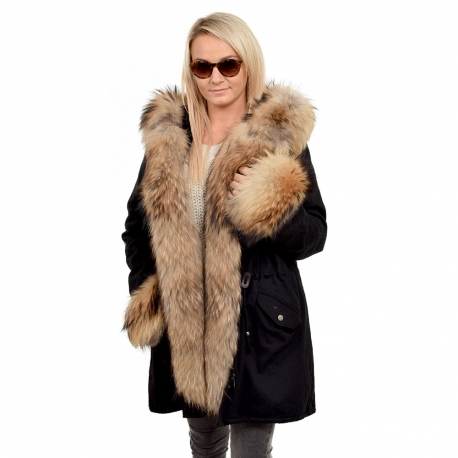 Parka with Hood, Cuffs and Front of Finn Raccoon Fur