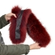 Limited Edition - Maroon Raccoon Fur Hood Trim (77cm)