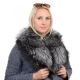 Genuine Silver Fox Fur Collar Wrap Shawl Stole