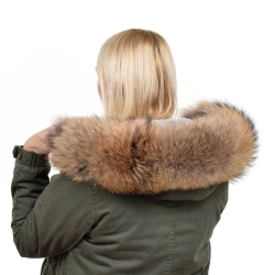 Raccoon Fur Hood Trim Fur Collar Fur For Hood (85cm)