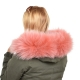 Limited Edition - Pink Raccoon Fur Hood Trim (72cm)