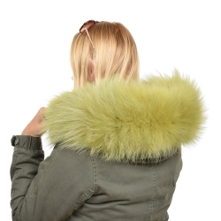 Limited Edition - Green Raccoon Fur Hood Trim (71cm)