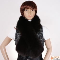 Genuine Brown Fox Fur Scarf Shawl Muffler Wrap