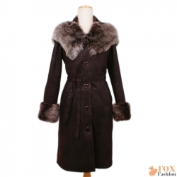 Shearling sheepskin coat with toscana hood (KP06)