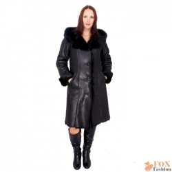 Toscana shearling sheepskin coat with hood (KB01)