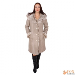 Toscana shearling sheepskin coat with hood (KB03)