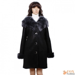 Shearling sheepskin coat with toscana hood (KP02)