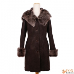 Shearling sheepskin coat with toscana hood (KP05)
