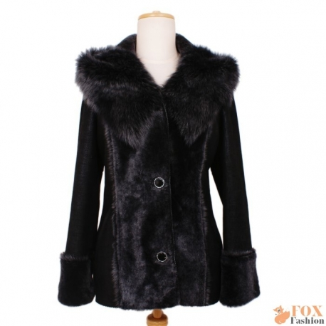 Shearling sheepskin hooded jacket (KP03)