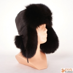 Genuine Men's Brown Fox Fur Hat I Fur Bomber Hat