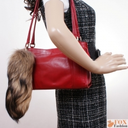 Fashionable Raccoon Tail Fur Keychain Bag Charm