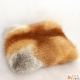 Genuine Red Fox Fur Pillow / Red Fox Fur Cushion 35x35cm