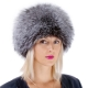 Genuine Women's Silver Fox Fur Round Hat